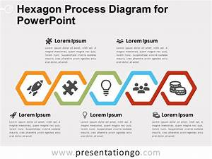 Hexagon Process Diagram  5 Steps  For Powerpoint And Google Slides