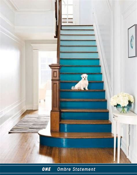 Ways Spruce Staircase by Three Ways To Diy A Colourful Blue Staircase Bright