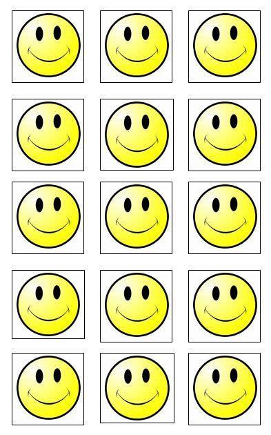 reward chart smiley faces print  laminate  smiley