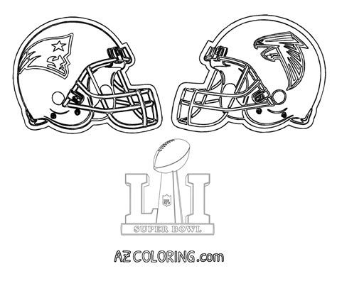superbowl colors bowl 2017 coloring pages az coloring pages