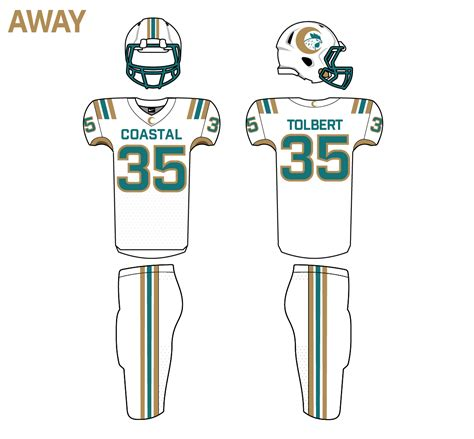 Football re-designs | Coastal Carolina (2/n) | An ...