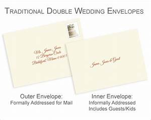 Properly address pocket invitations without inner envelopes for Wedding invitations inner and outer envelope etiquette