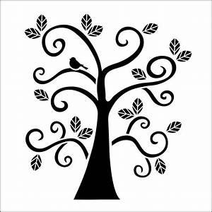 Folkart, Curly, Tree, Laser, Stencil
