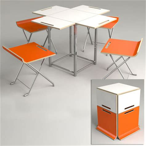 folding chair and table by offit paket cleverest space