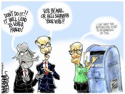 Suppression Voter Star Cartoon Editorial Capital Keep