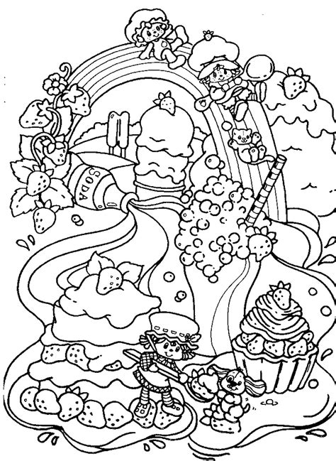 Free Coloring Sheets by Strawberry Shortcake Coloring Pages