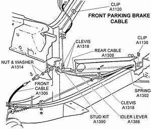 Front Parking Brake Cable - Diagram View