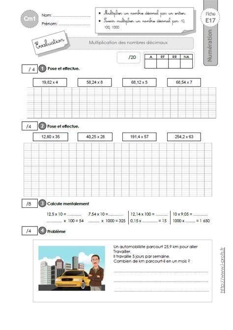 cm1 evaluation multiplication d 233 cimale