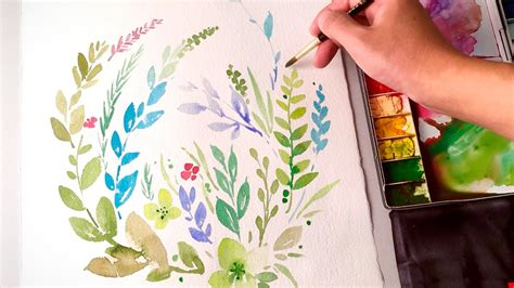 lvl watercolor leaves clipart youtube