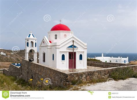 Red Cupola Church Stock Image