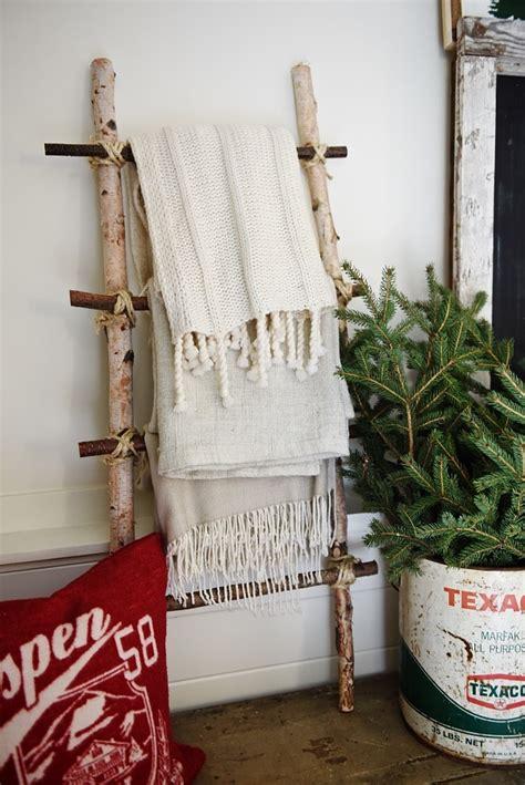 diy birch log ladder liz marie blog