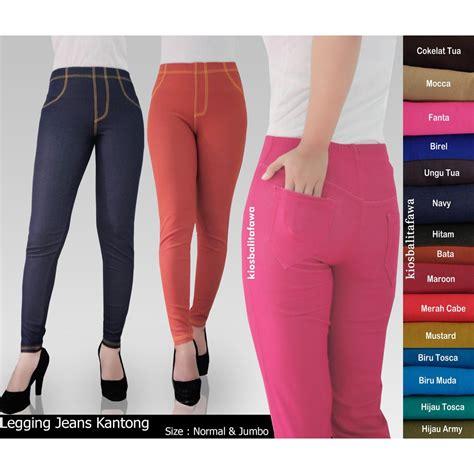 Kaos Wanita Dewasa Lengan Panjang Legging Jeans Kantong Uk Jumbo Fit To Xxl Celana Dewasa