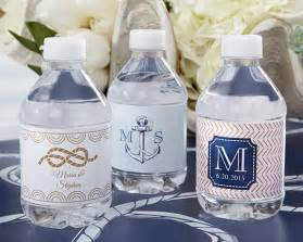 baby shower anchor theme personalized water bottle labels nautical wedding