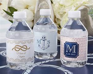 personalized water bottle labels nautical wedding With cheap water bottle labels for wedding
