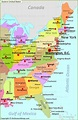 Eastern Us Map With Cities   map of interstate