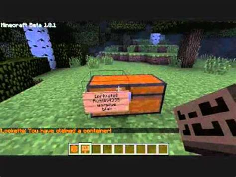 how do you make a door into a swinging bookcase minecraft lockette plugin making chests private youtube