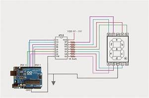 Seven Segment Display Using Arduino And 4511 Driver Ic