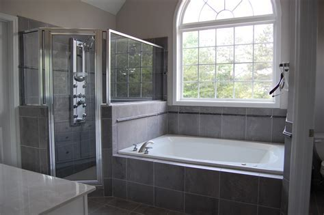 Bath & Shower: Nice Elegant White Tub Home Depot Bathrooms