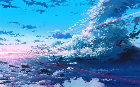 Anime Digital Wallpaper - digital anime sky wallpapers