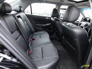 Black Interior 2007 Honda Accord Ex
