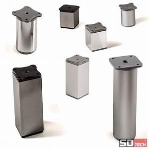 Möbelfüße Metall Eckig : 4er set alu m belf e sockelf e 40 mm schrankf e f e sockelf e tischbeine ebay ~ Watch28wear.com Haus und Dekorationen