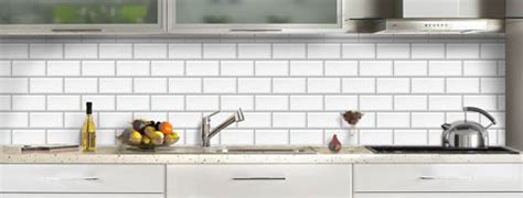 credence cuisine verre decor carrelage metro blanc