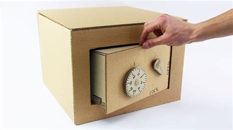 door lock box how to safe with combination lock from cardboard