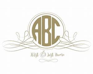 Free monogram maker for Circle monogram maker