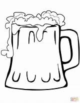 Beer Mug Coloring Printable Styles Dots Puzzle sketch template