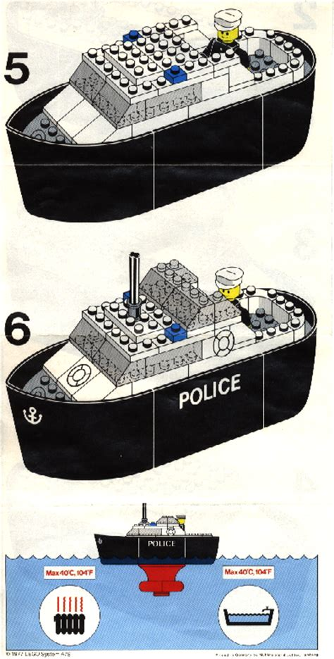 Lego Batman Boat Instructions by Lego Police Boat Instructions 709 Legoland