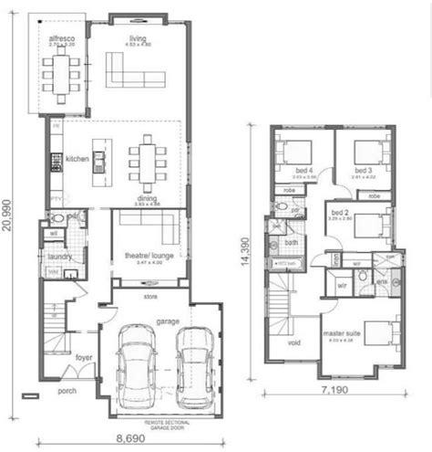 plano de casa dormitorios ideas planos  metros cuadrados