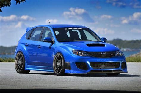 subaru wrx custom blue custom subaru impreza wrx sti cars pinterest