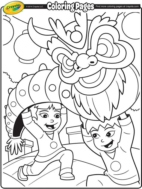 Chinese New Year Dragon Coloring Page Crayolacom