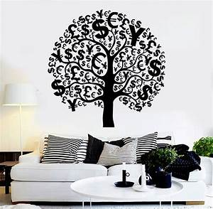 Vinyl wall decal money tree talisman euro dollar success for Inspiring dollar tree wall decals