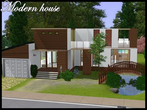 Mod The Sims  Modern House With Little Bridge