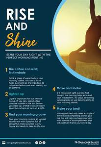Poster - Healthy Morning Routine