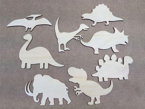 dinosaur shapes set wooden laser cut dinosaur x 8