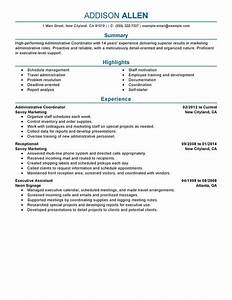 unforgettable administrative coordinator resume examples With scheduling coordinator resume sample