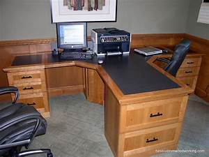 Custom Cherry Partner Desk (Two Person) Custom made T