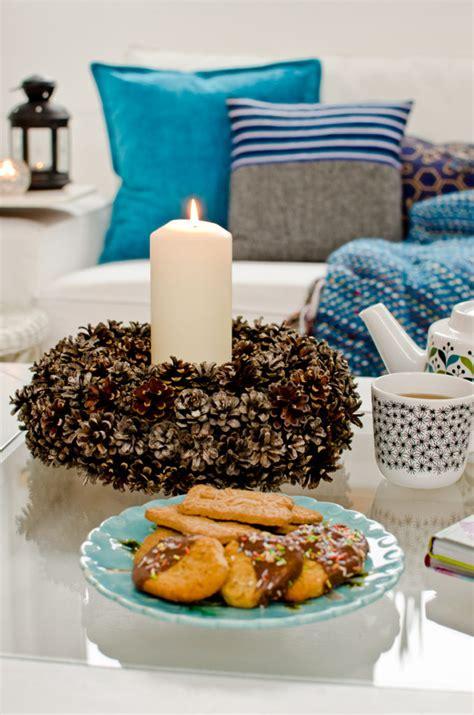 kranz aus tannenzapfen schm 246 kerstunde giveaway leelah