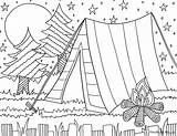 Camping Coloring Printable sketch template