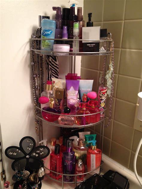 organize   perfume bathroom
