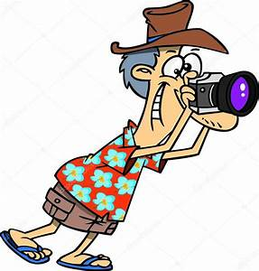 Cartoon Tourist grapher — Stock Vector © ronleishman
