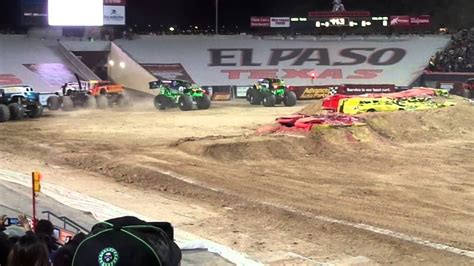 monster truck show el paso two grave diggers freestyle monster jam el paso tx march