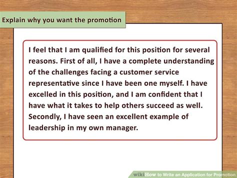 Briefly Describe Your Interest In This Position by How To Write An Application For Promotion With Pictures