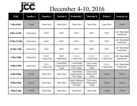 gym schedule simon family jcc fitness family fun