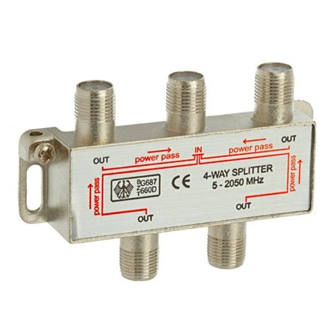 4 way coax cable splitter 2ghz cable tv hdtv