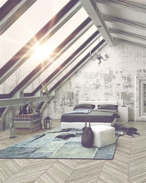 Awesome Attic Loft Bedroom by 1000 Ideas About Attic Bedroom Designs On