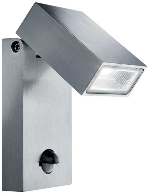 modern stainless steel outdoor led pir sensor wall light 7585