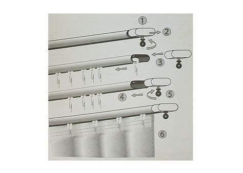 rideau de cuisine au metre 20 glisseurs pour rideau à fronces pour tringle système rail